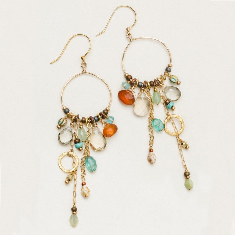 Holly Yashi Elemental Beaded Hoop Earrings