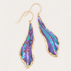 Holly Yashi Purple Wavelength Earrings
