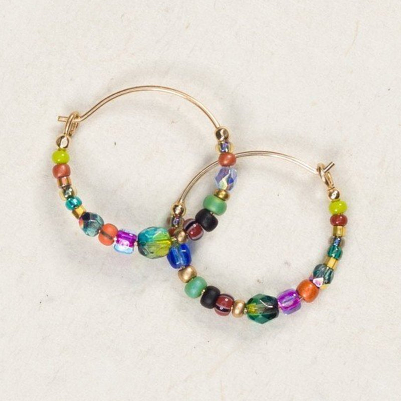 Holly Yashi Sonoma Petite Glass Beaded Hoops