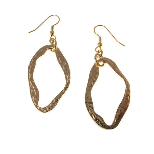 Erica Zap Large Hammered Oval Earrings