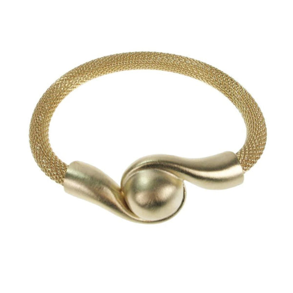 Erica Zap Mesh Bracelet with Magnetic Swirl Ball Clasp