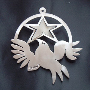 Don Drumm Dove Hanging from Star Ornament