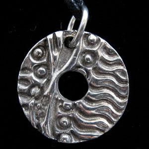 Don Drumm Small Abstract Disc Pendant