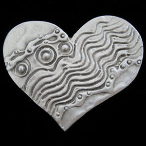Don Drumm Wavy Heart Pin
