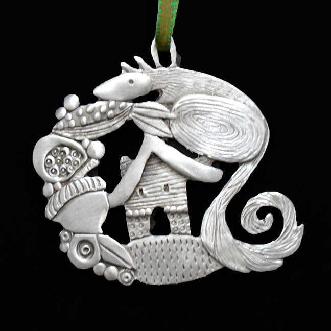 "Leandra Drumm ""Acorn Squirrel"" Ornament"