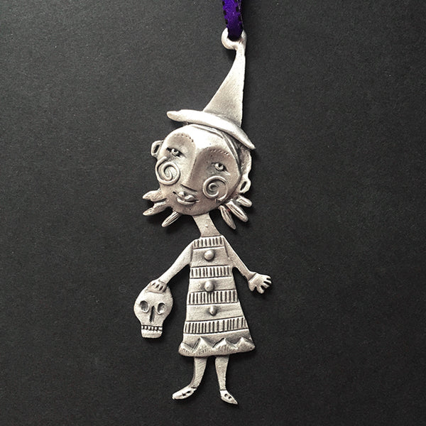 Leandra Drumm Witch Girl Ornament