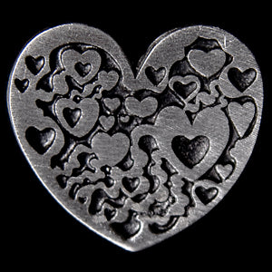 Don Drumm Flat Heart Pin