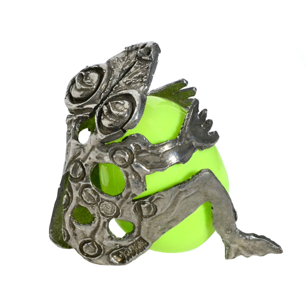 "NEW Don Drumm ""Frog"" Egg Holder"