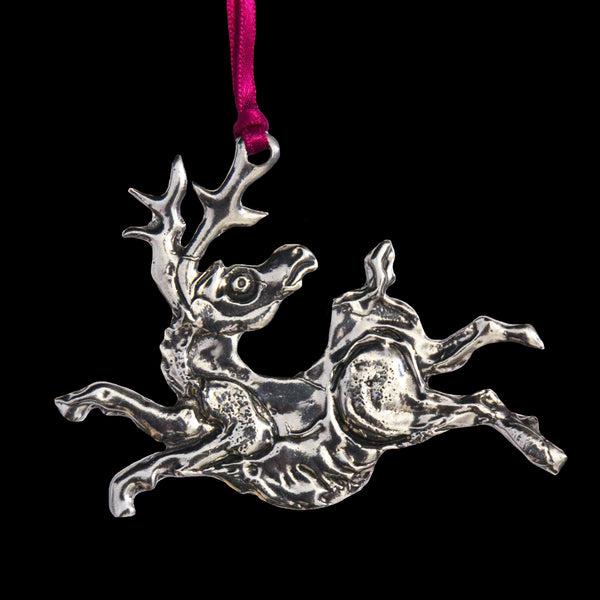 Don Drumm Ornament Leaping Reindeer