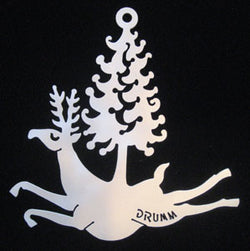Don Drumm Reindeer with Tree Ornament