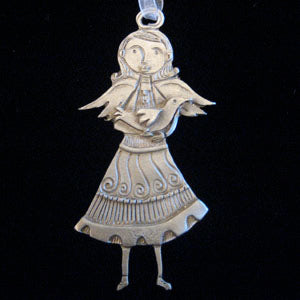 Girl with Bird Ornament