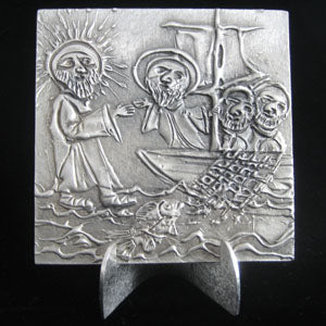 Don Drumm Jesus Walks on Water Tile