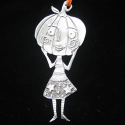 Leandra Drumm Pumpkin Girl Ornament