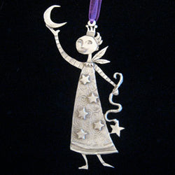 Leandra Drumm Fairy with Moon Ornament
