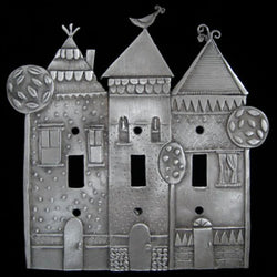Leandra Drumm Row of Houses Switchplate