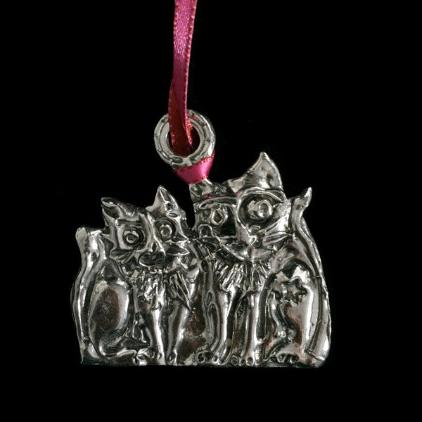 Two Sitting Cats Ornament