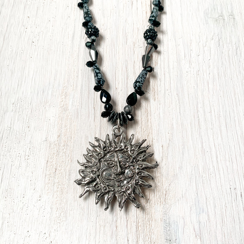 NEW! Don Drumm One of a Kind Black Beaded Necklace