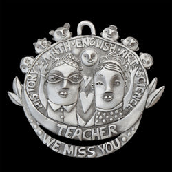 "NEW! Leandra Drumm ""We Miss You Teacher"" Ornament"