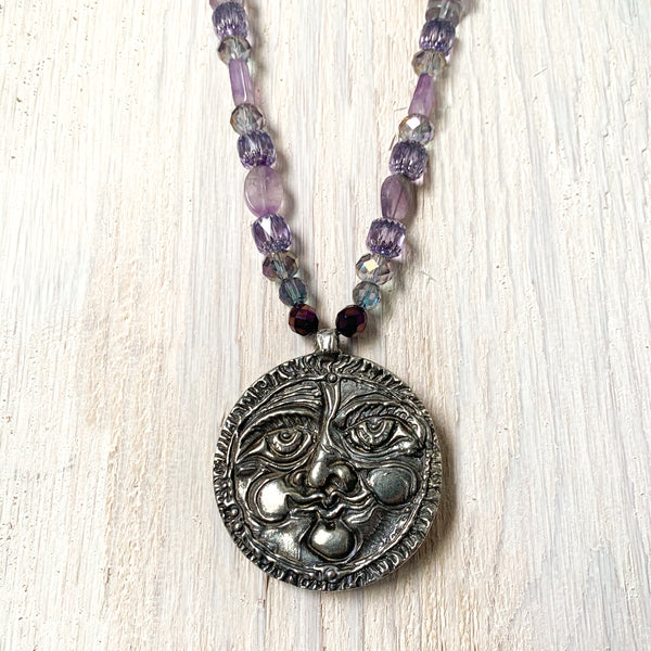 NEW! Don Drumm One of a Kind Lavender Necklace