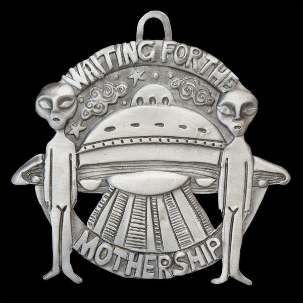 "NEW! Leandra Drumm ""Waiting for the Mothership"" Ornament"