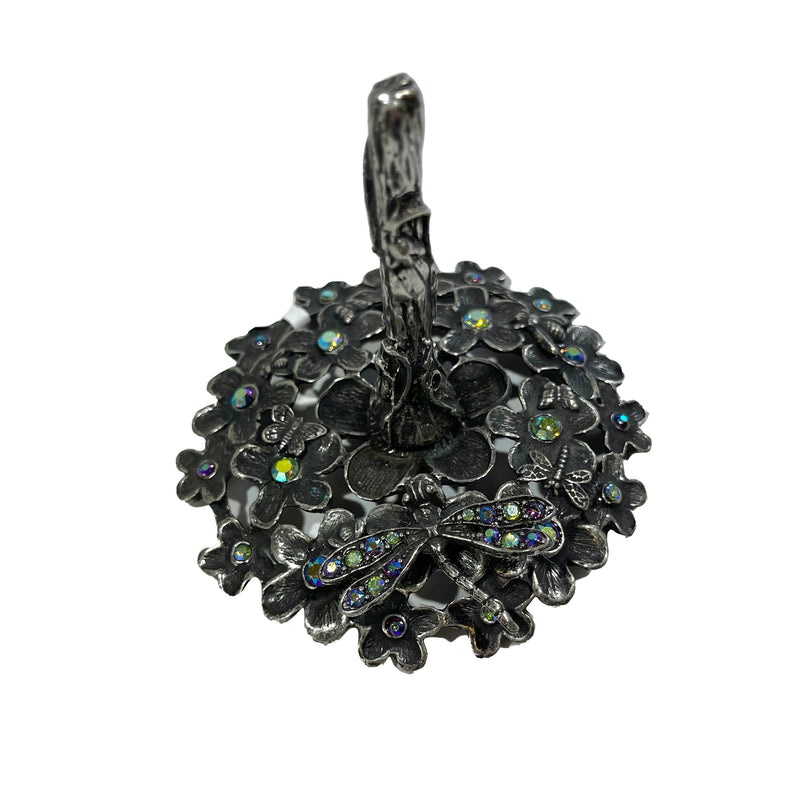 La Contessa Dragonfly & Flowers Ring Stand