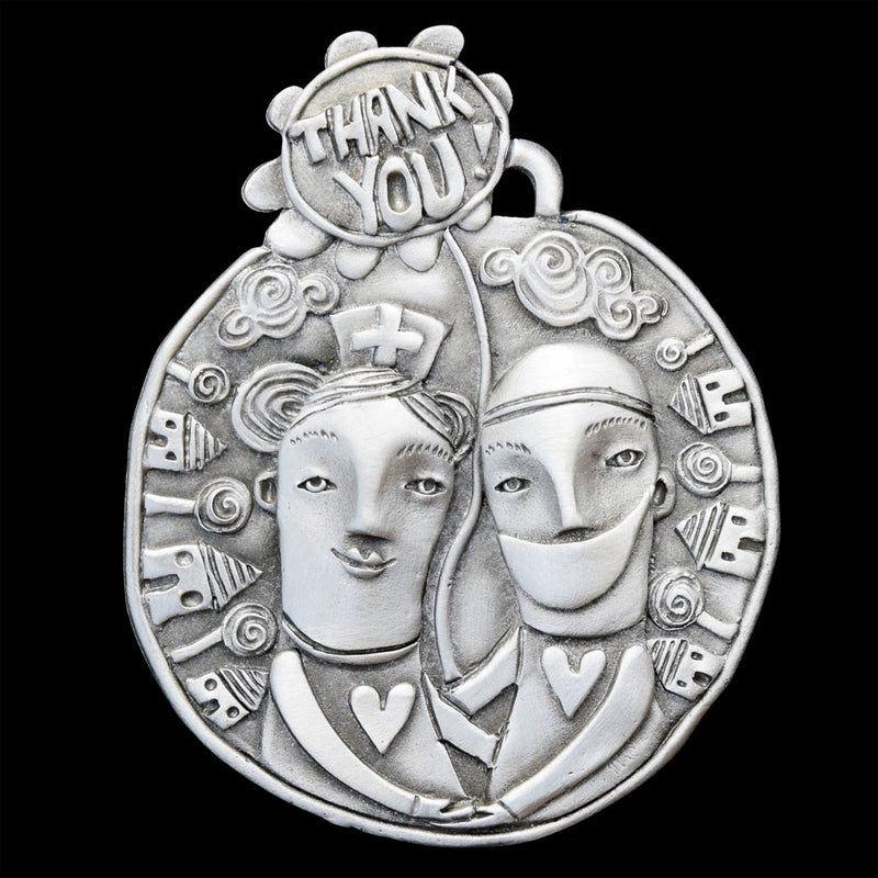 "NEW! Leandra Drumm ""Thank You Heroes"" Ornament"