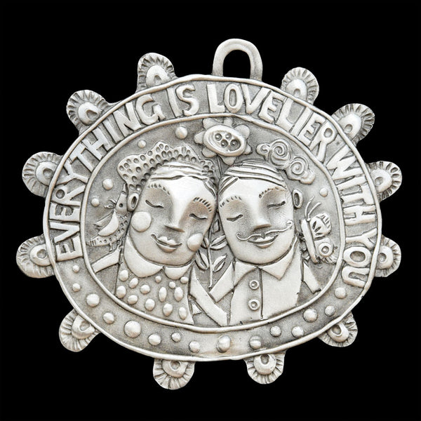 "Leandra Drumm ""Everything is Lovelier with You"" Ornament"