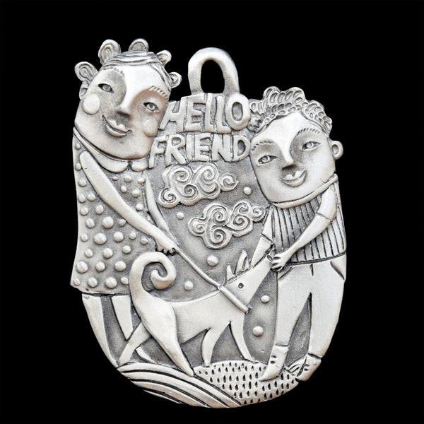 "NEW! Leandra Drumm ""Hello Friend"" Ornament"