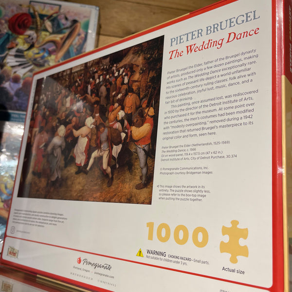 Pomegranate 1000pc Puzzle- Pieter Bruegel: Wedding Dance
