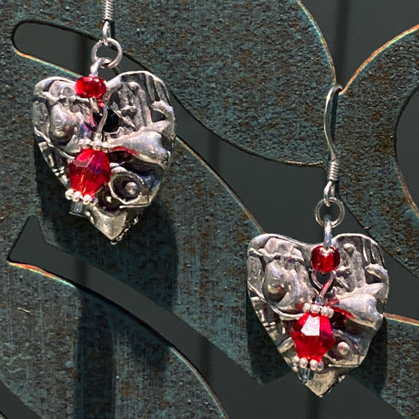Artistic Preservation + Don Drumm Heart Earrings #3