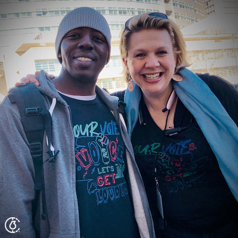 Womxn's March Denver Nonprofit member Angela Astle and Founder of The 6th Badi Tolo