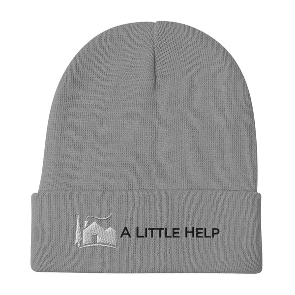 A Little Help Embroidered Beanie