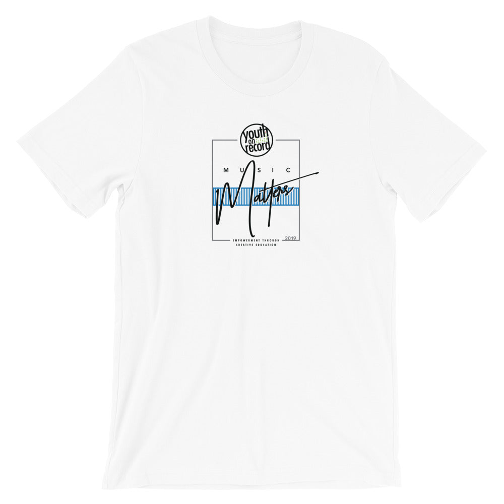 Youth on Record 2019 Music Matters Unisex T-Shirt (Blue)