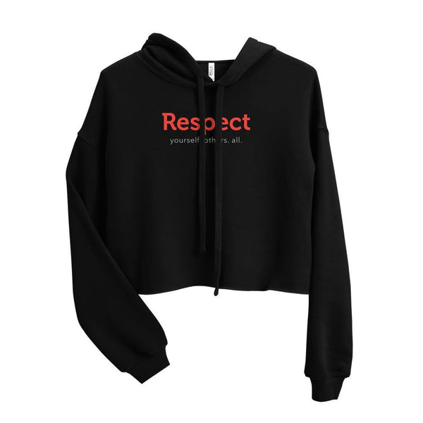 Respect Team Womens Crop Hoodie - The 6th Clothing Co.