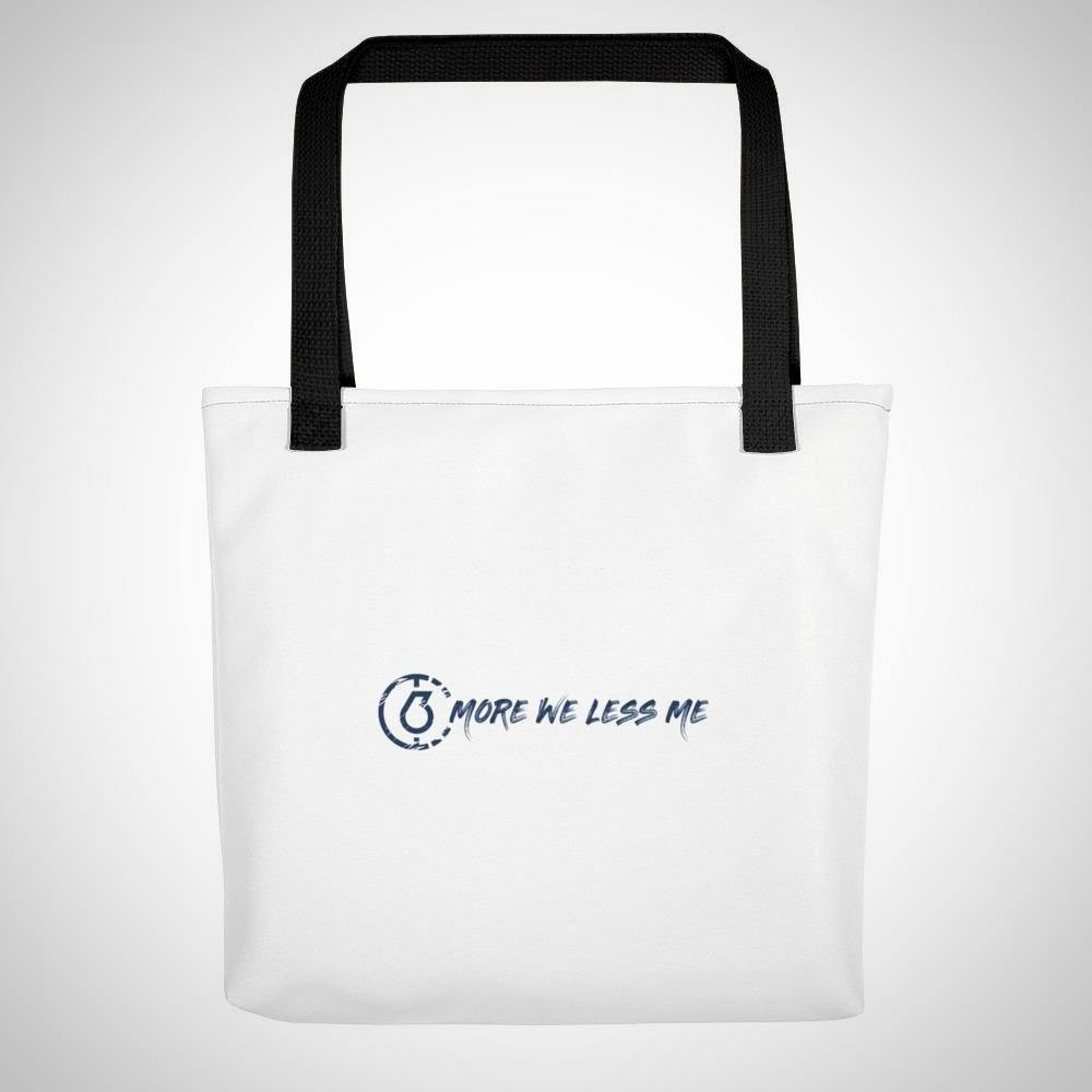 More We Less Me Tote Bag (Simple White)