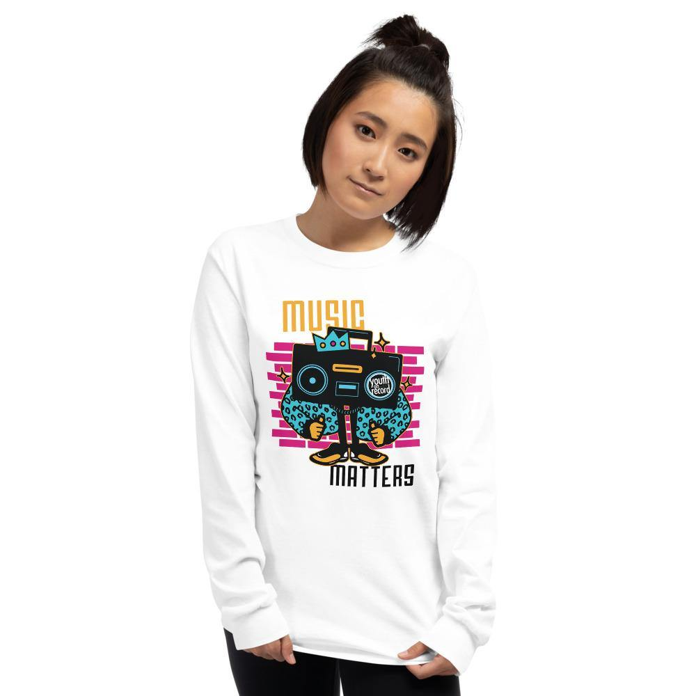 Youth on Record 2020 Music Matters Unisex Long Sleeve Tee - The 6th Clothing Co.