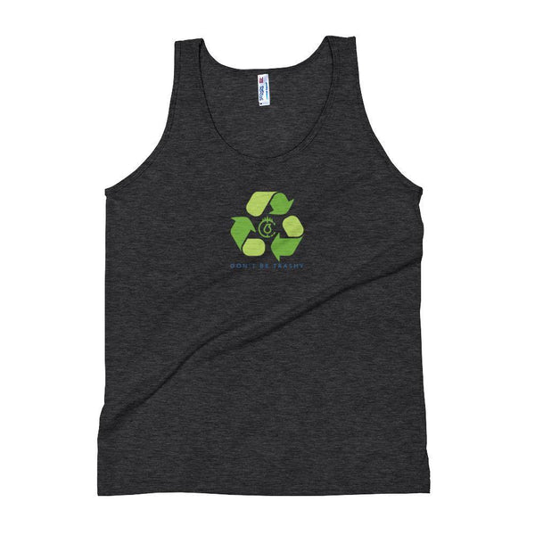 Don't Be Trashy, Recycle Unisex Tank Top (Color) - The 6th Clothing Co.