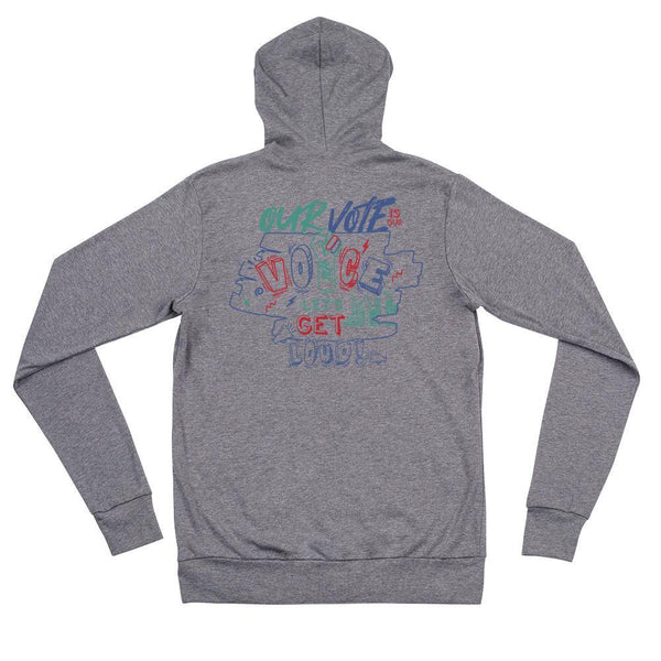 Womxns March Denver Unisex Zip Hoodie - The 6th Clothing Co.