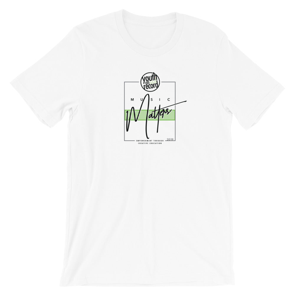 Youth on Record 2019 Music Matters Unisex T-Shirt (Green)