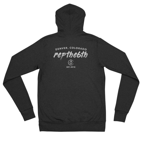Repthe6th CO Men's Lightweight Zip Hoodie