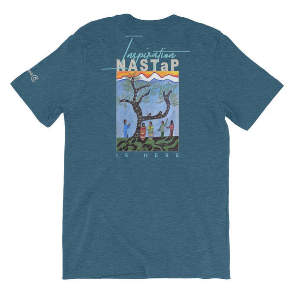 NASTaP Inspiration is Here (Back) Unisex T-Shirt - The 6th Clothing Co.