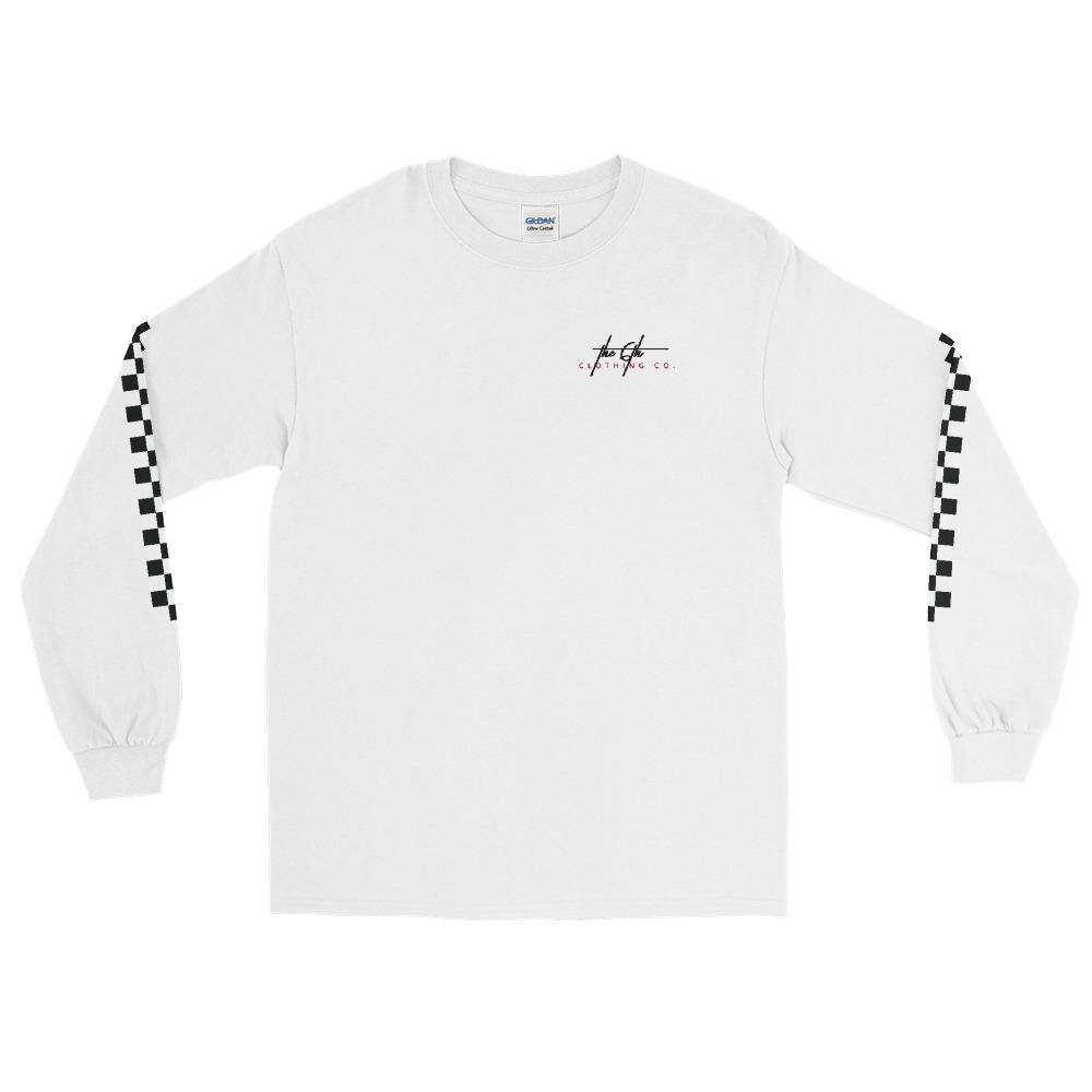 6th Signed Checkerboard Long Sleeve T-Shirt - The 6th Clothing Co.