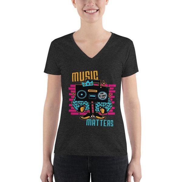 Youth on Record 2020 Music Matters Women's Fashion V-neck Tee - The 6th Clothing Co.