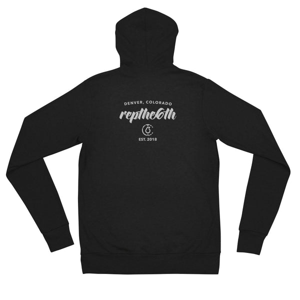 Repthe6th CO Womens Lightweight Zip Hoodie