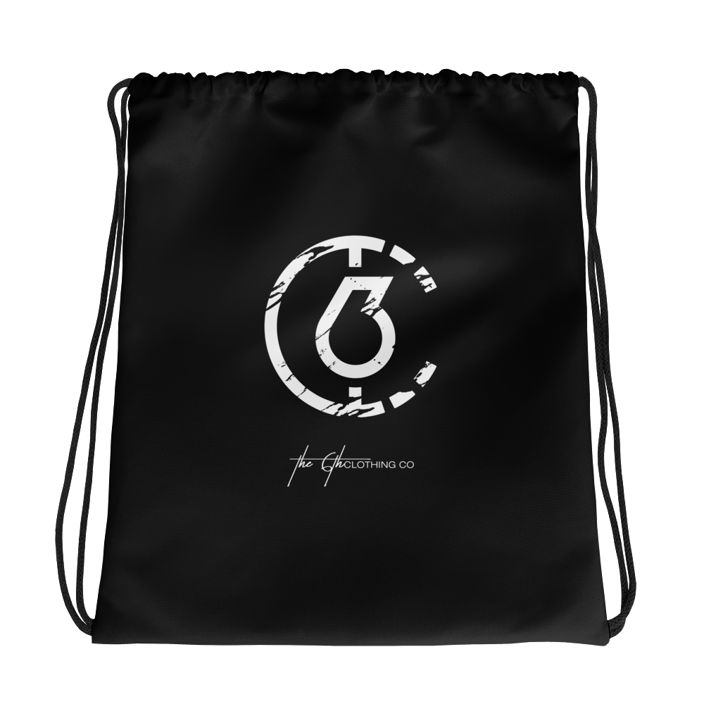 The 6th Drawstring Gym Bag (Black)