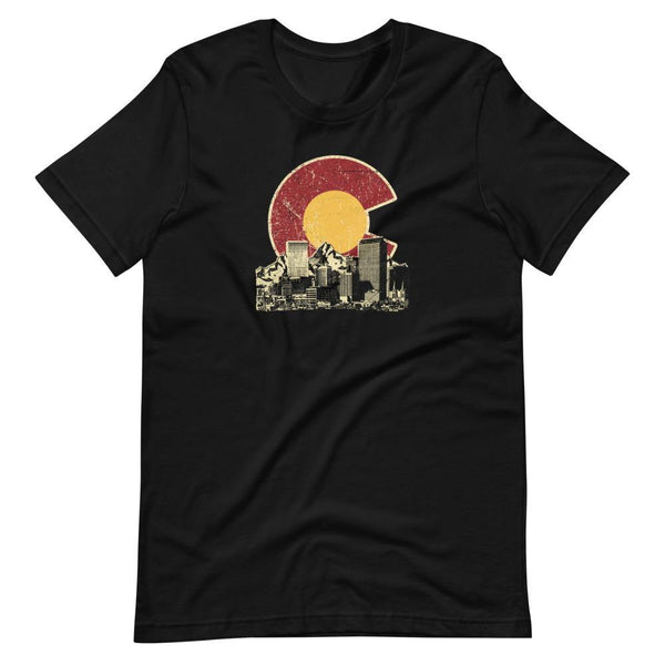 Colorado Skyline Etching Unisex Tee