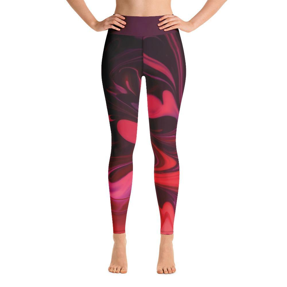 Magenta Marble Yoga Leggings - The 6th Clothing Co.