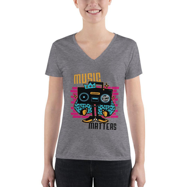 Youth on Record 2020 Music Matters Women's Fashion V-neck Tee