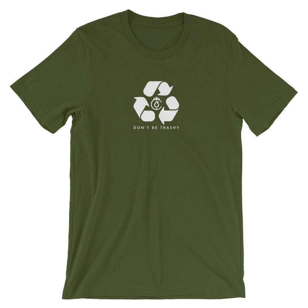 Don't Be Trashy, Recycle Unisex T-Shirt (Mono)
