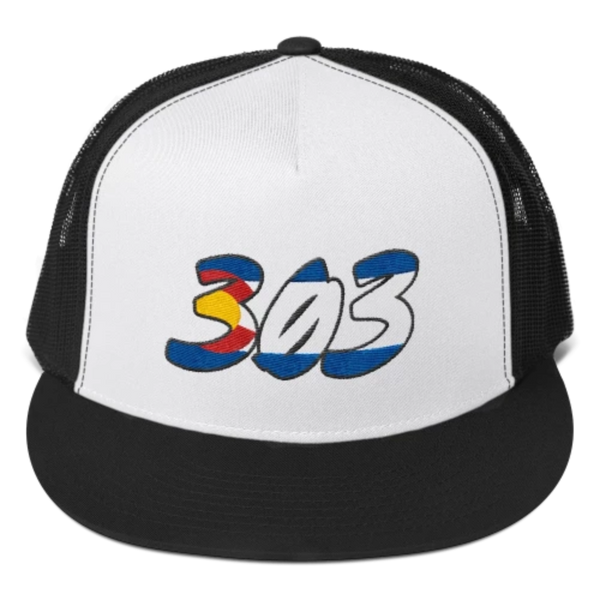 303 Colorado Flag Trucker Cap